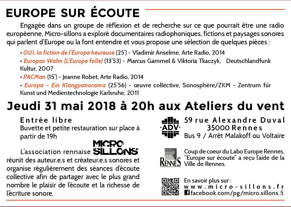 Europe sur écoute flyer_verso