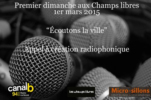 Écoutons la ville - 1 mars 2015 - les Champs Libres, Rennes